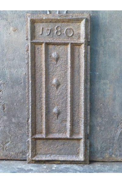 Plaque de Cheminée 'Fleurs de Lys' en 14