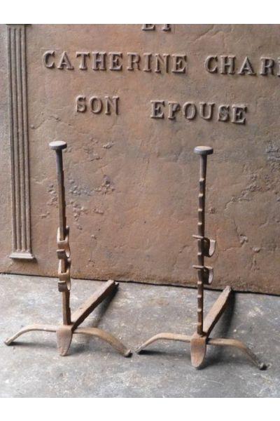 Chenets Louis XV en 15