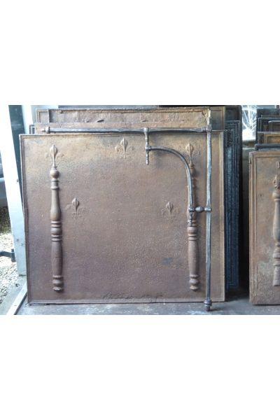 Potence crémaillère pivotante de cheminée en 15