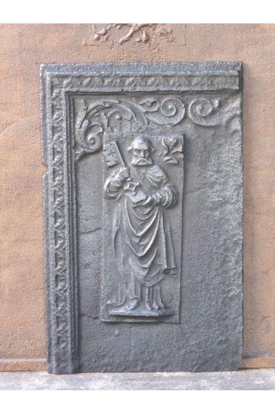 Plaque de Cheminée 'Saint Pierre' en 14