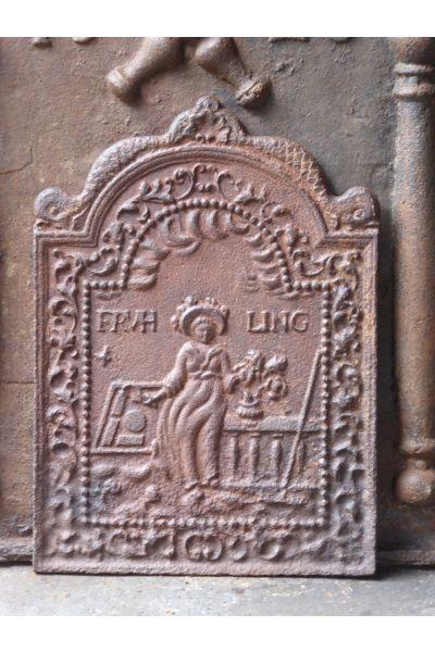 Plaque de Cheminée 'Flora' en 14