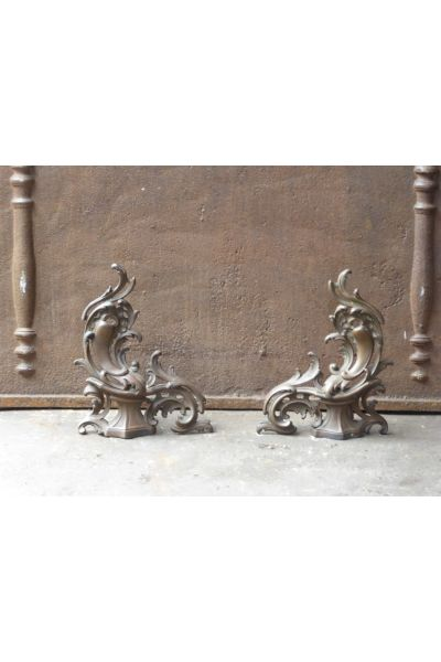 Barre de Chenets Louis XV en 16