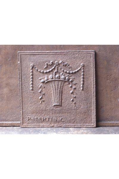 Plaque de Cheminée 'Panier de Fleurs' en 14