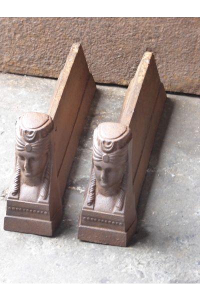 Chenets d'un Sphinx en 14