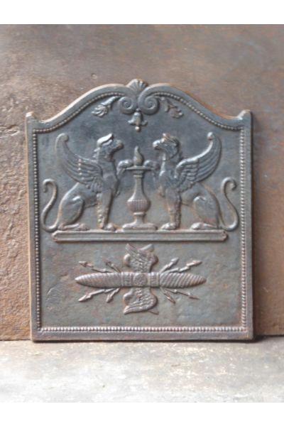 Plaque Cheminée Néoclassique en 14