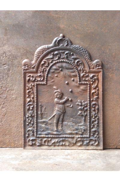 Plaque de Cheminée 'Souffleur de Bulles' en 14
