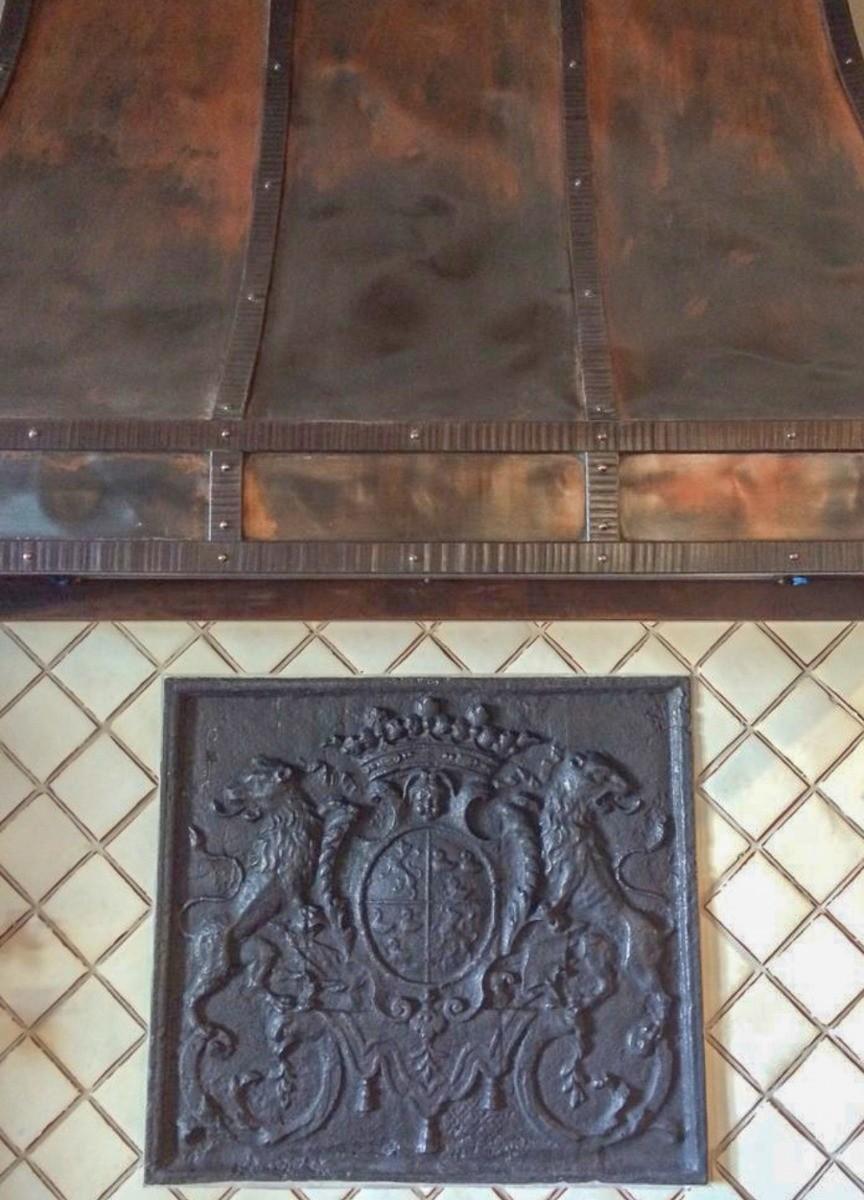 Plaque de cheminée comme dosseret délivré par https://www.plaque-de-cheminee.fr à Redlands, Californie
