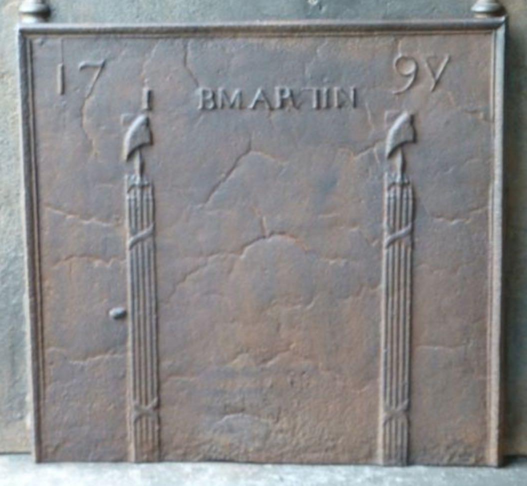 Plaque de cheminée Numéro 11