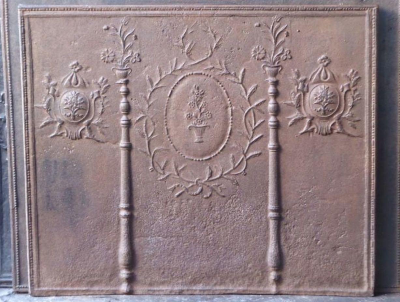Plaque de cheminée Numéro 12