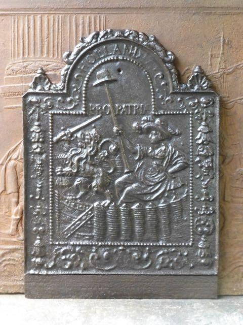 Plaque cheminee Pro Patria