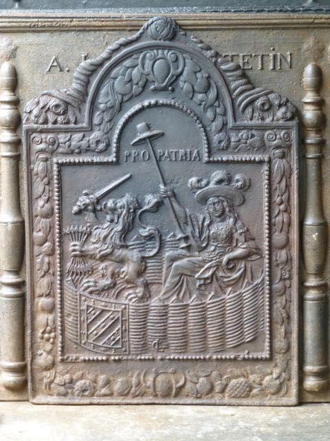Plaque de cheminée Louis XIII