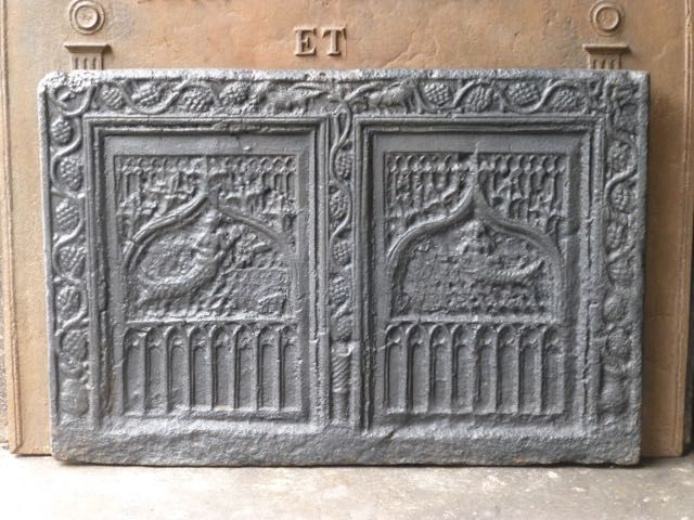Plaque de cheminée d'époque gothique