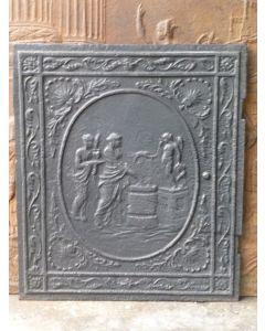 Plaque de cheminée époque néoclassique