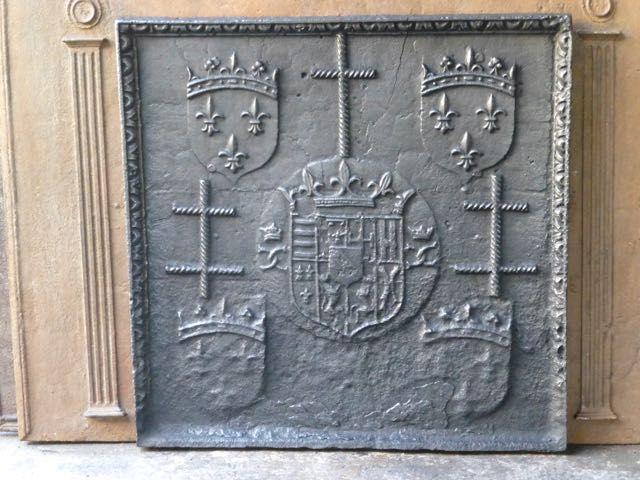 Plaque de cheminée époque renaissance