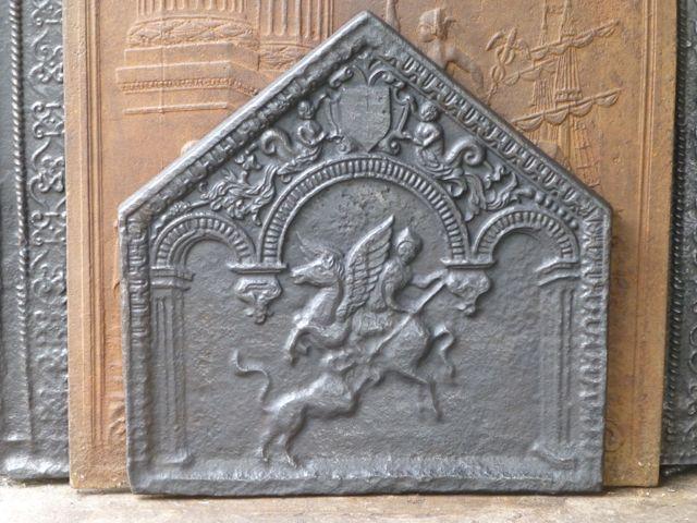 Plaque de cheminée style renaissance
