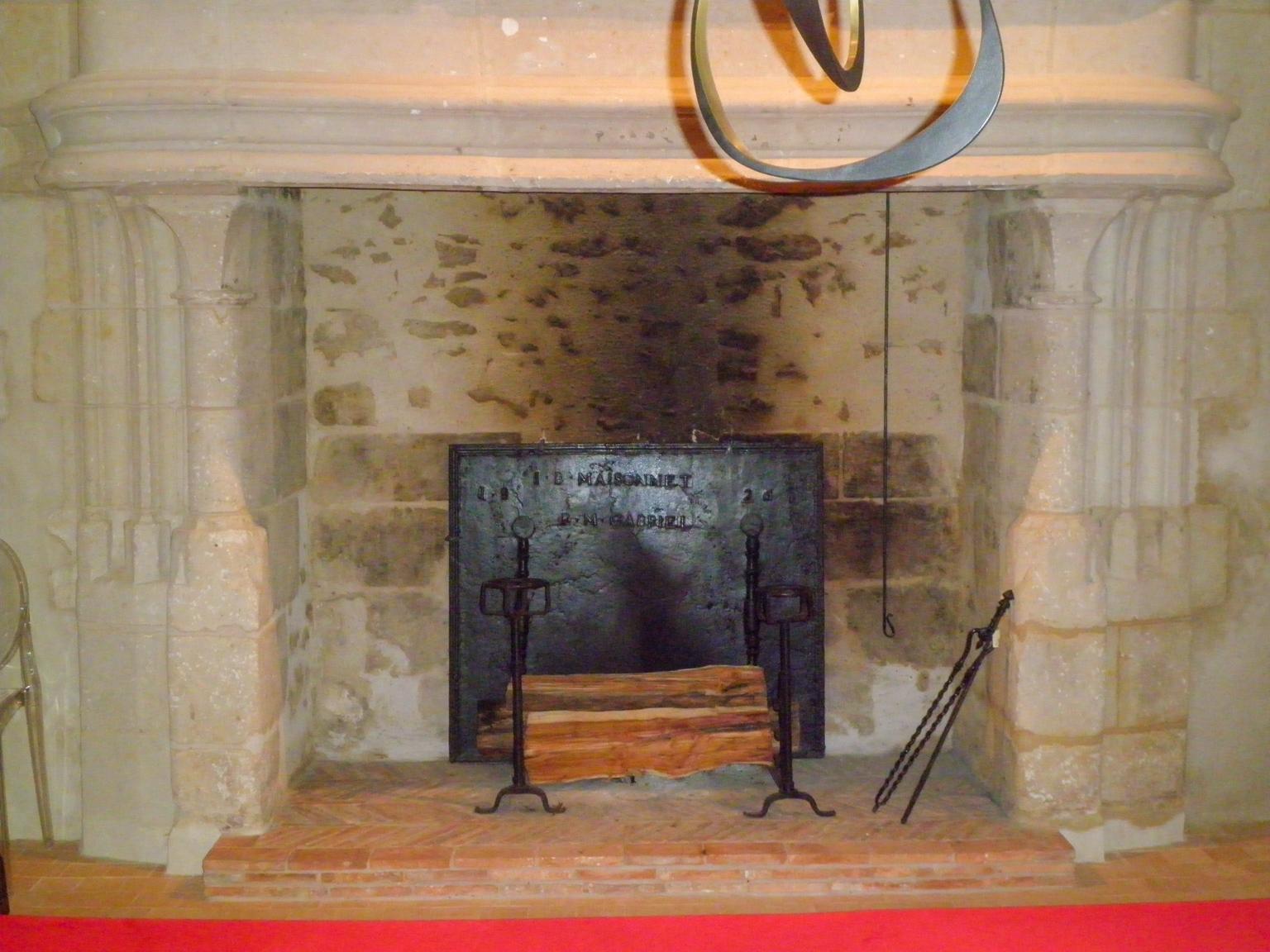 Plaque de cheminée, Sarthe, France